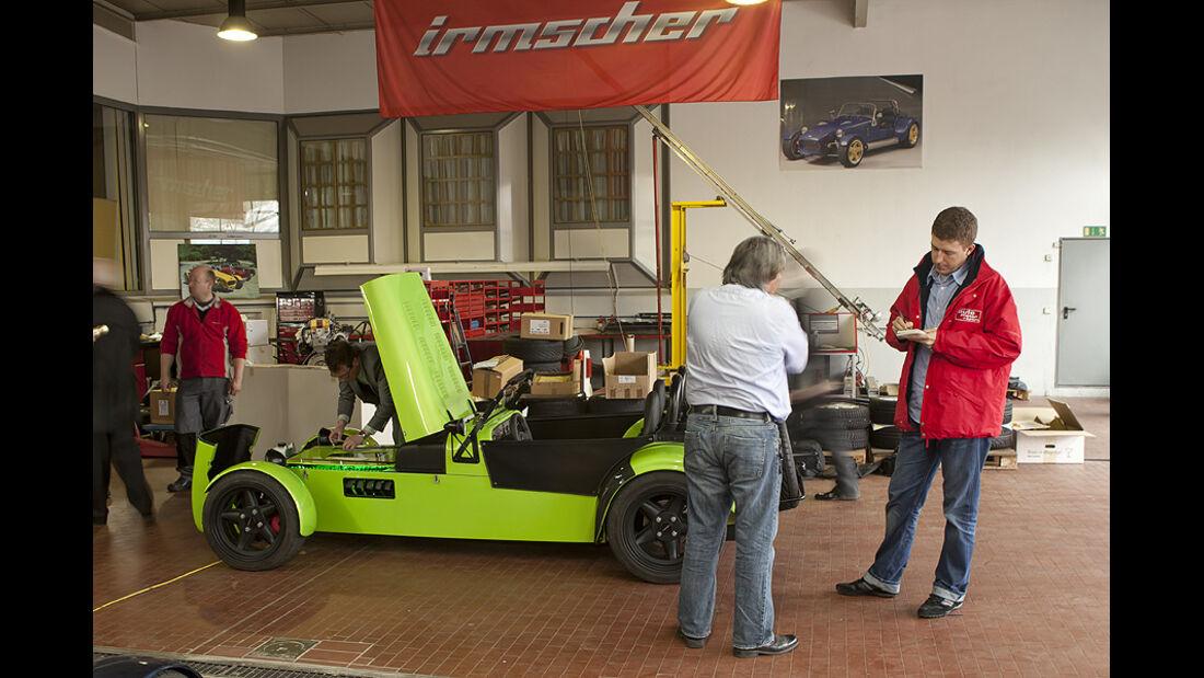 03/11 aumospo 07/2011 Irmscher 7 Selctra, Werkstatt