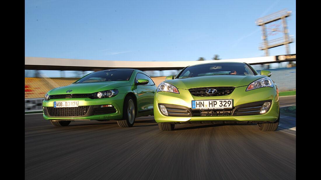 03/11 aumospo06/2011 Hyundai Genesis Coupé 2.0T, VW Scirocco 2.0 TSI