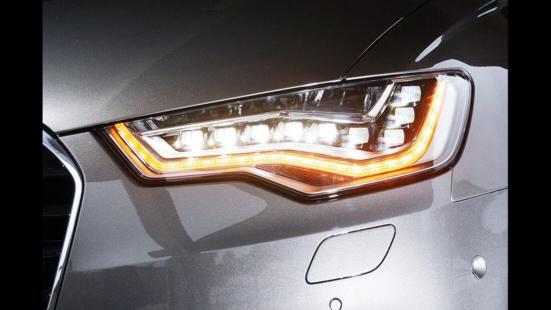 03/2011  Audi A6 3.0 TDI, aumospo 06/2011, Allrad, Scheinwerfer