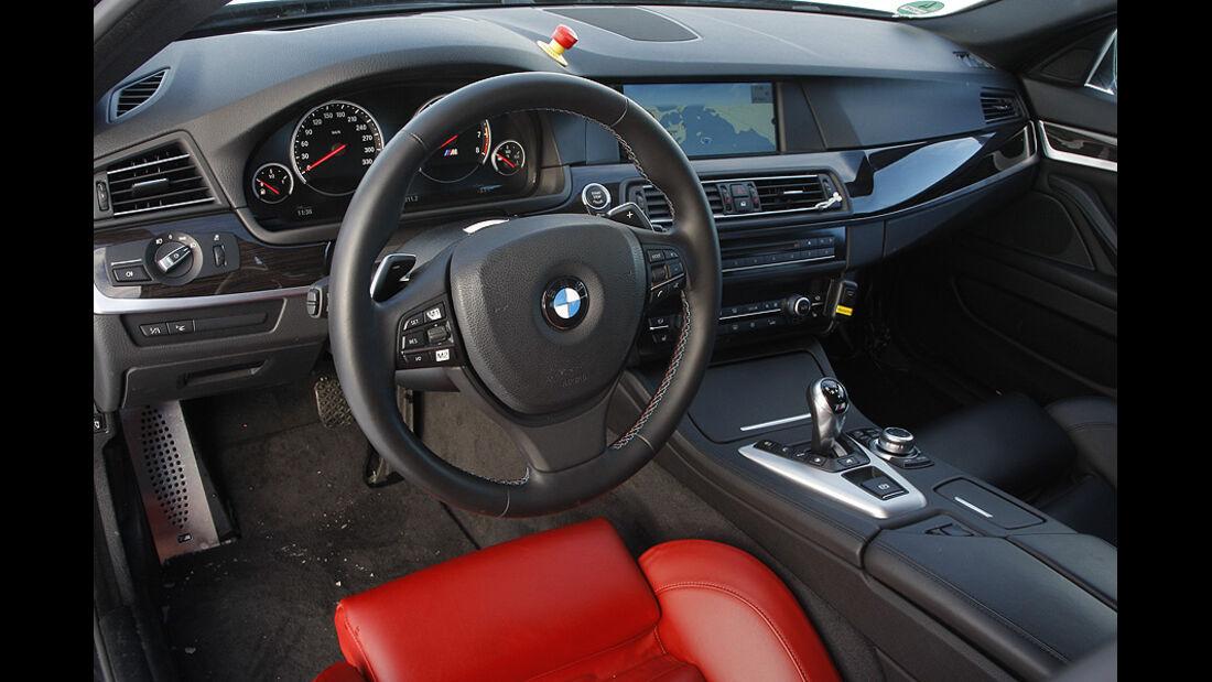 03/2011 BMW M5 Fahrbericht, Wintererprobung, Innenraum
