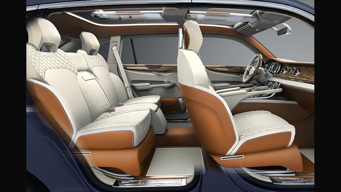 03/2012, Bentley EXP9 SUV Genf, Innenraum