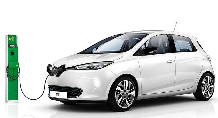 03/2012, Renault Zoe Elektroauto Genf, Ladestation