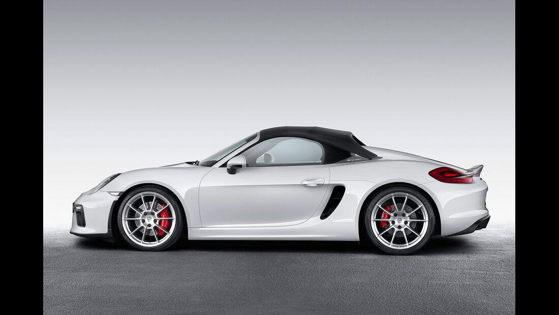 03/2015 Porsche Boxster Spyder New York Sperrfrist 01.04.2015.