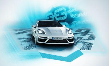 03/2018, Porsche Blockchain Symbolbild