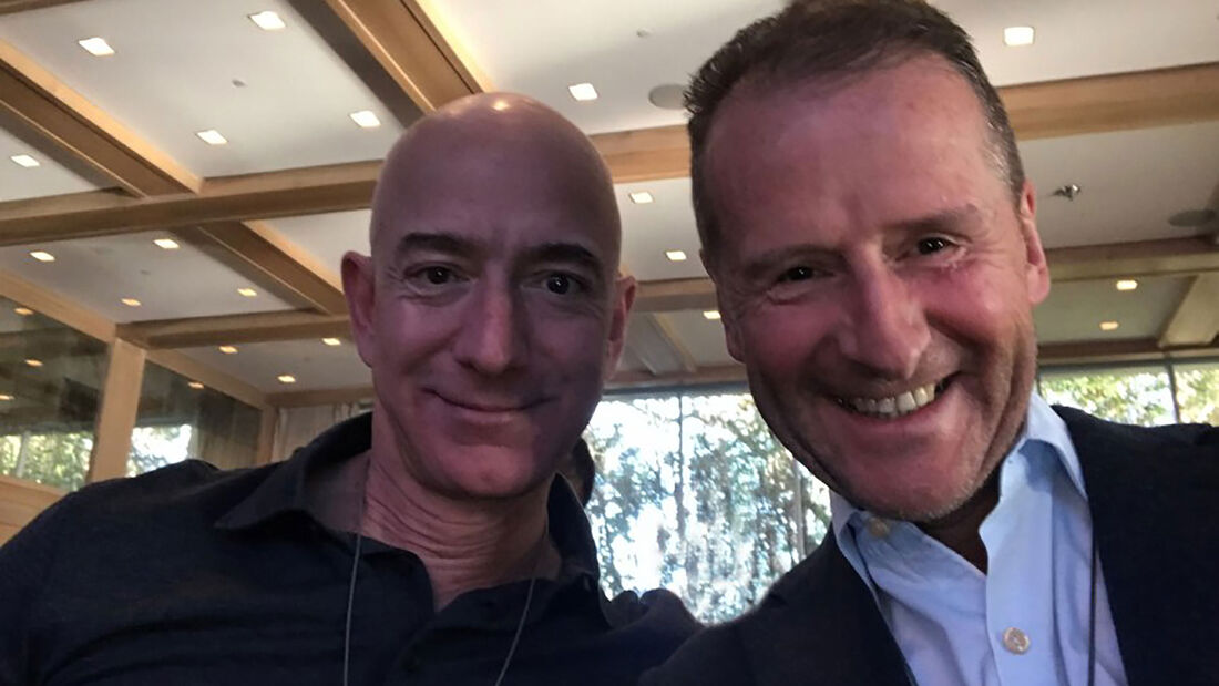 03/2019; Jeff Bezos und Herbert Diess
