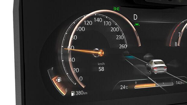 03/2020, Instrumenten-Display mit 3D-Technik