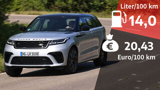 03/2021, Kosten und Realverbrauch Range Rover Velar P550 SVA