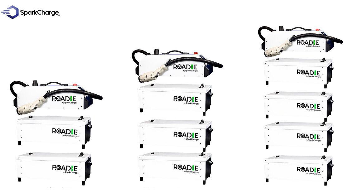 03/2021, SparkCharge Roadie transportabler Schnelllader