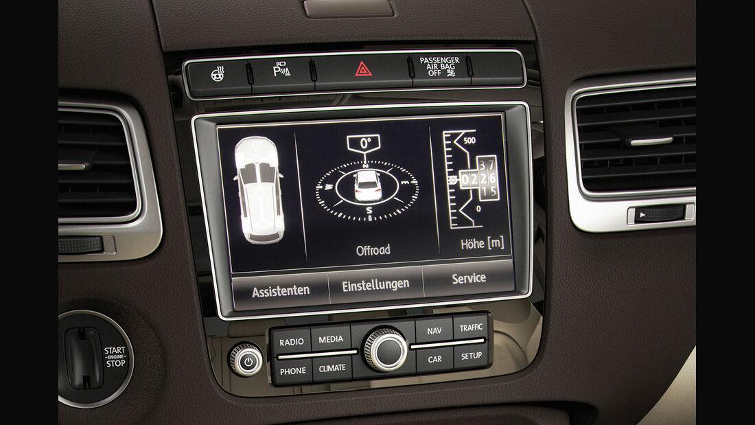 04/2014 VW Touareg Facelift Sperrfrist 17.4.2014 00.00 Uhr, Innenraum