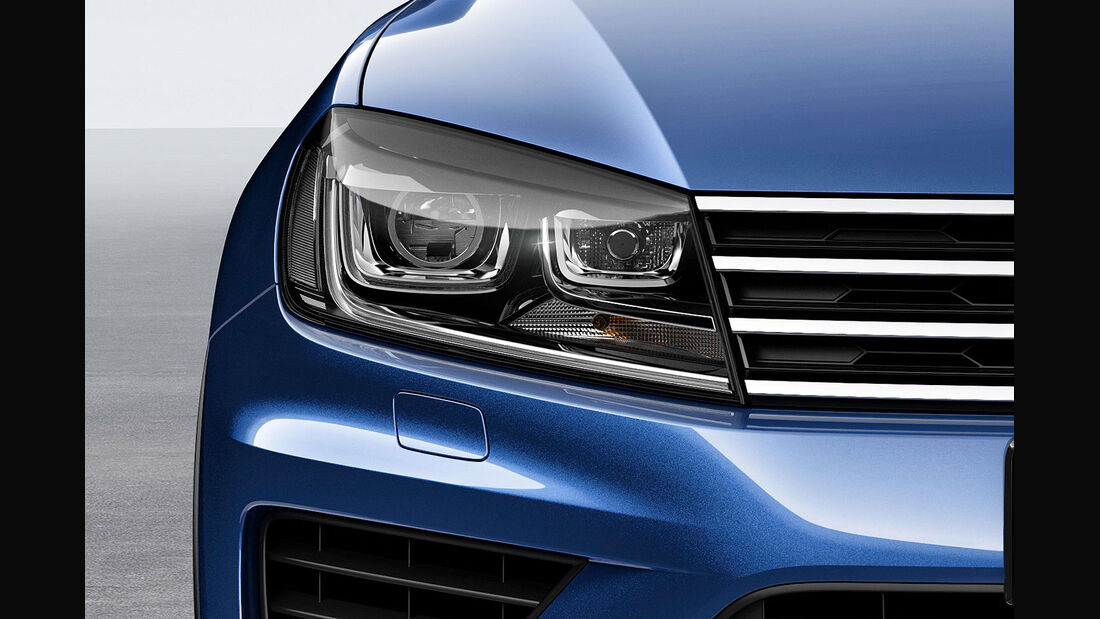 04/2014 VW Touareg Facelift Sperrfrist 17.4.2014 00.00 Uhr, Scheinwerfer