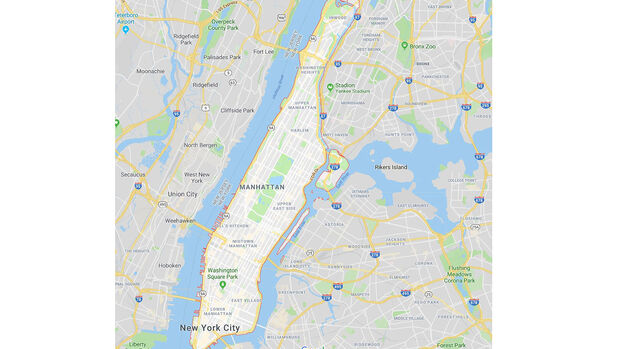 04/2019, Karte Manhattan