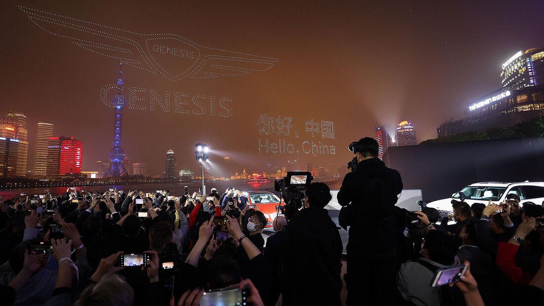 04/2021, Genesis Launch China Drohnenshow
