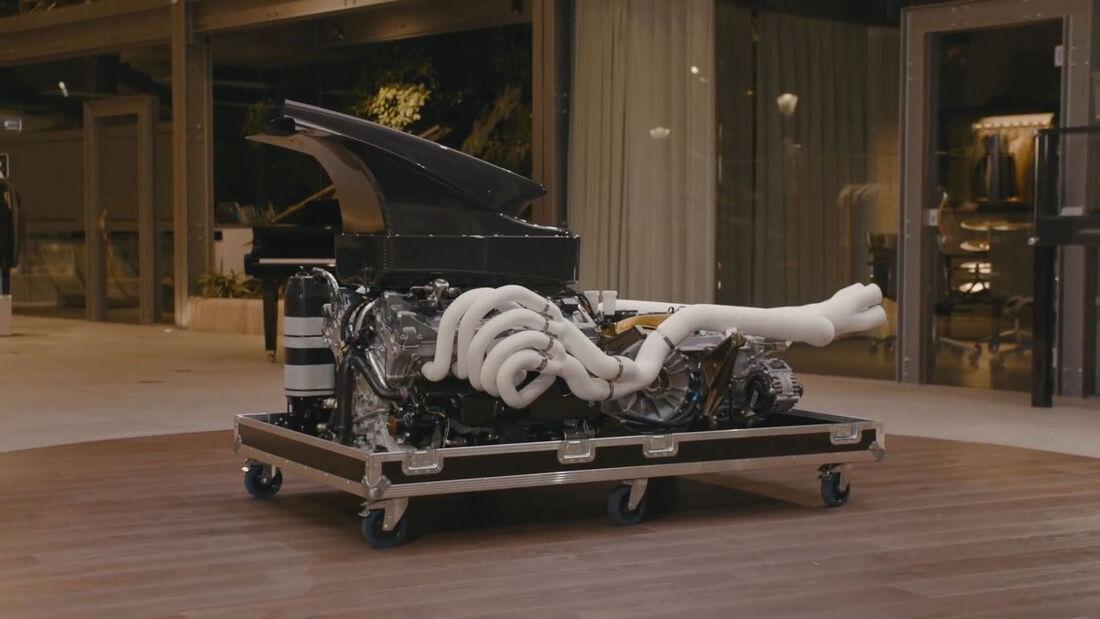 04/2021, Pagani Huayra R V12-Motor