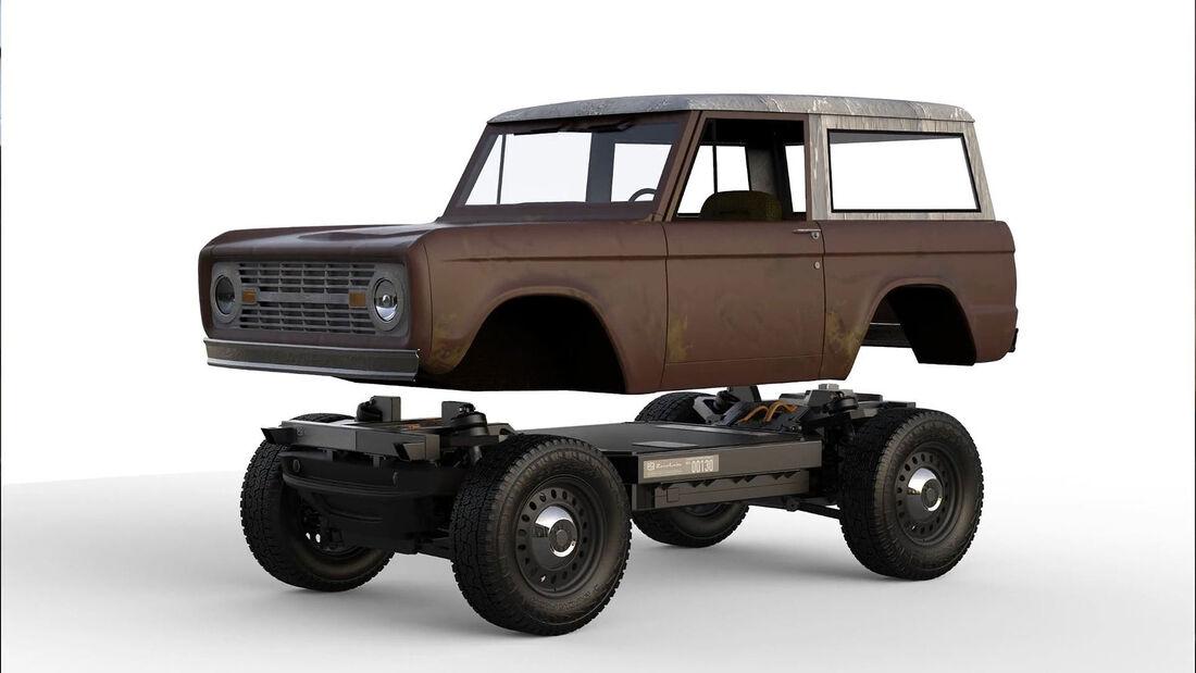 04/2021, Zero Labs Ford Bronco Schrott Elektro-Plattform