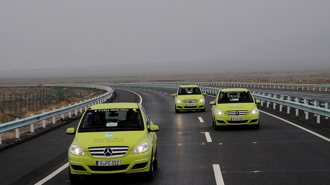 05/11 Mercedes F-Cell World Drive, B-Klasse, Brennstoffzelle, 51. Tag