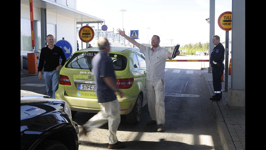 05/11 Mercedes F-Cell World Drive, B-Klasse, Brennstoffzelle, 64. Tag, St. Petersburg-Helsinki
