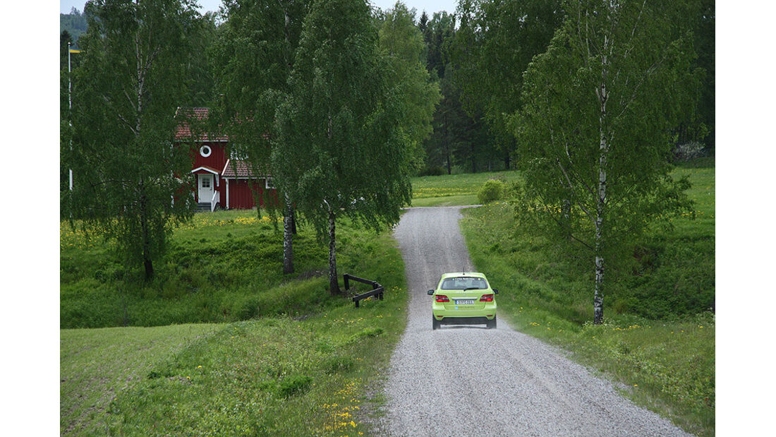 05/11 Mercedes F-Cell World Drive, B-Klasse, Brennstoffzelle, 67. Tag, Stockholm-Oslo