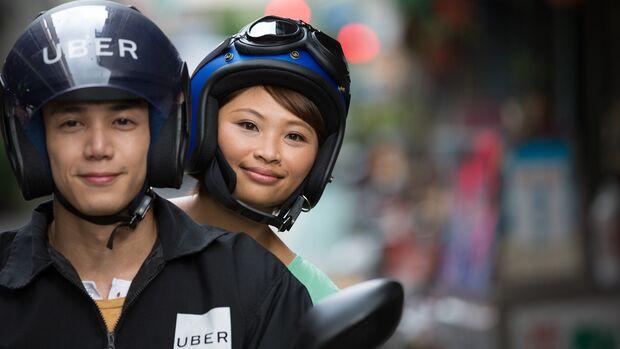 05/2018, Uber Ride auf einem Roller