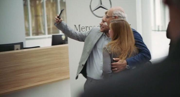 05/2019, Szene aus BMW-Abschiedsvideo für Dieter Zetsche