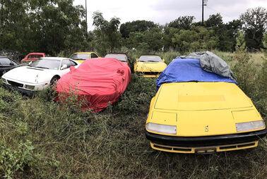 Ferrari-Friedhof im Grünen