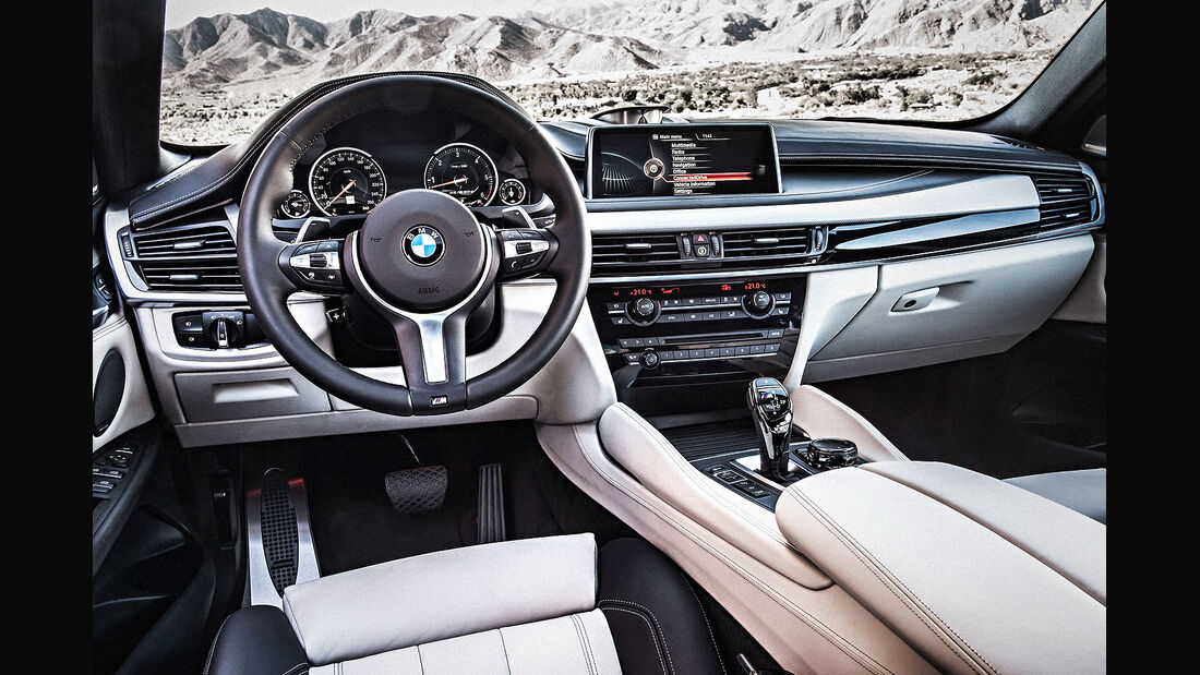 06/2014, BMW X6 Facelift, X6 M, Innenraum