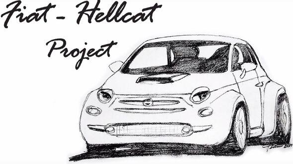 Fiat 500 Mit Hellcat Motor Projekt Von Hahn Auto Restoration Auto
