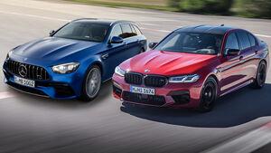 06/2020, BMW M5 und Mercedes-AMG E 63 Facelift Teaser