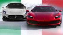 06/2021, Kaltvergleich Ferrari 296 GTB vs. Maserati MC20