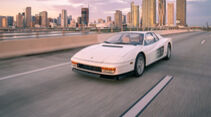 06/2021, Weißer Ferrari Testarossa Original Filmauto Miami Vice