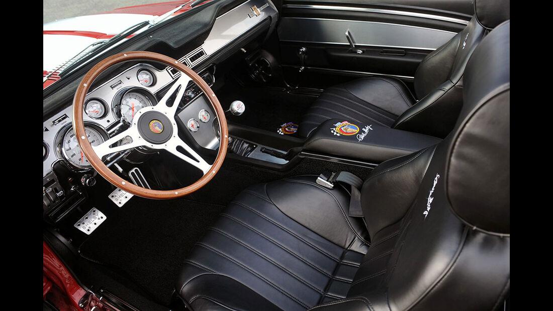 07/2012, Classic Recreations 1967 Shelby GT 500CR Convertible, Innenraum, Sitze