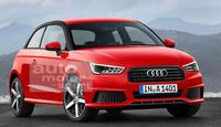 07/2015, Audi A1 ohne Singleframe-Grill