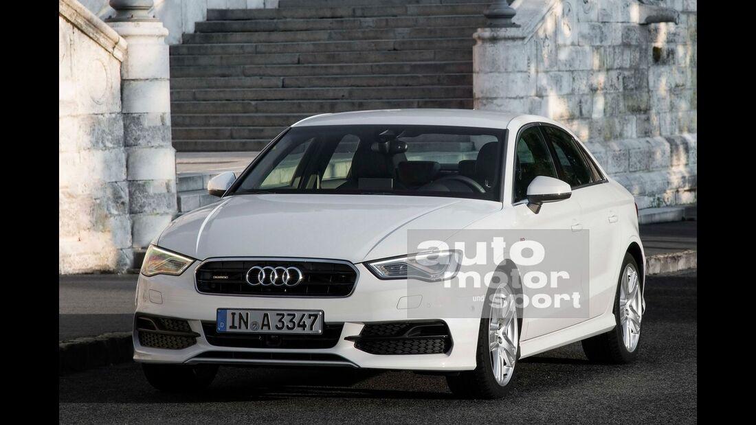 07/2015, Audi A3 ohne Singleframe-Grill