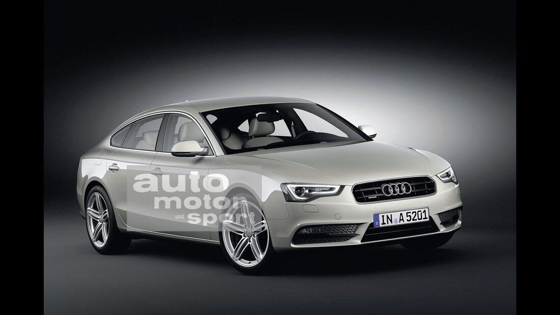 07/2015, Audi A5 ohne Singleframe-Grill