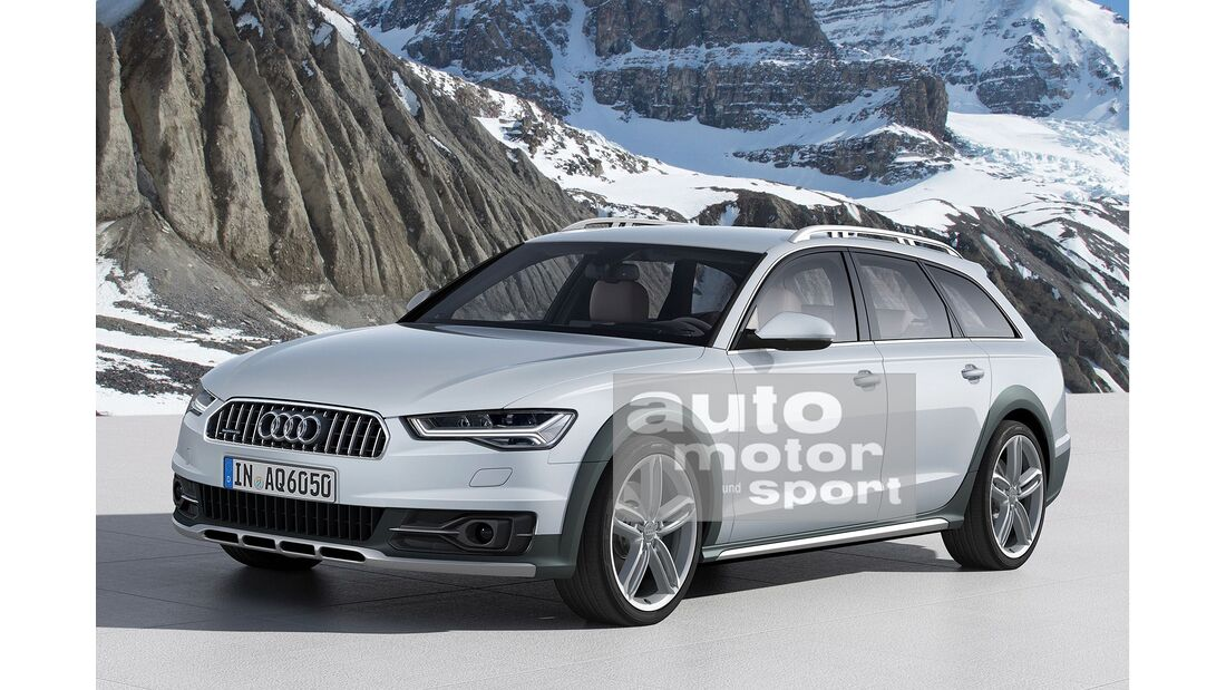 07/2015, Audi A6 ohne Singleframe-Grill
