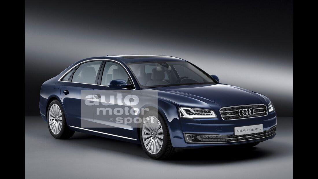 07/2015, Audi A8 ohne Singleframe-Grill