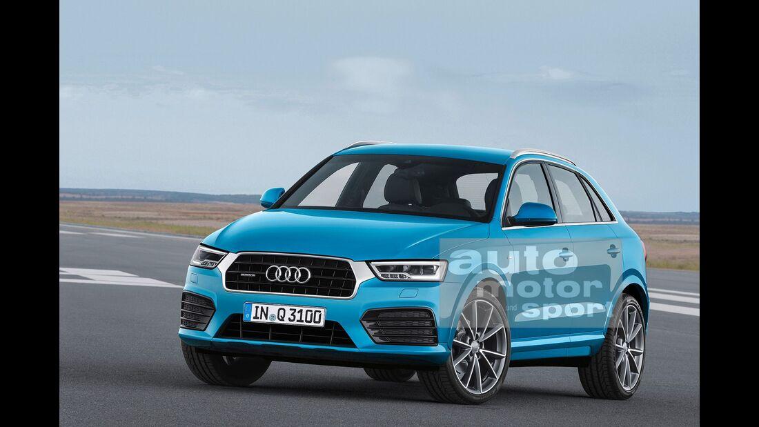 07/2015, Audi Q3 ohne Singleframe-Grill