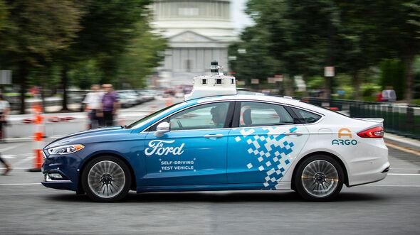 07/2019, Ford Fusion Hybrid mit Selbstfahr-Technologie von Argo AI