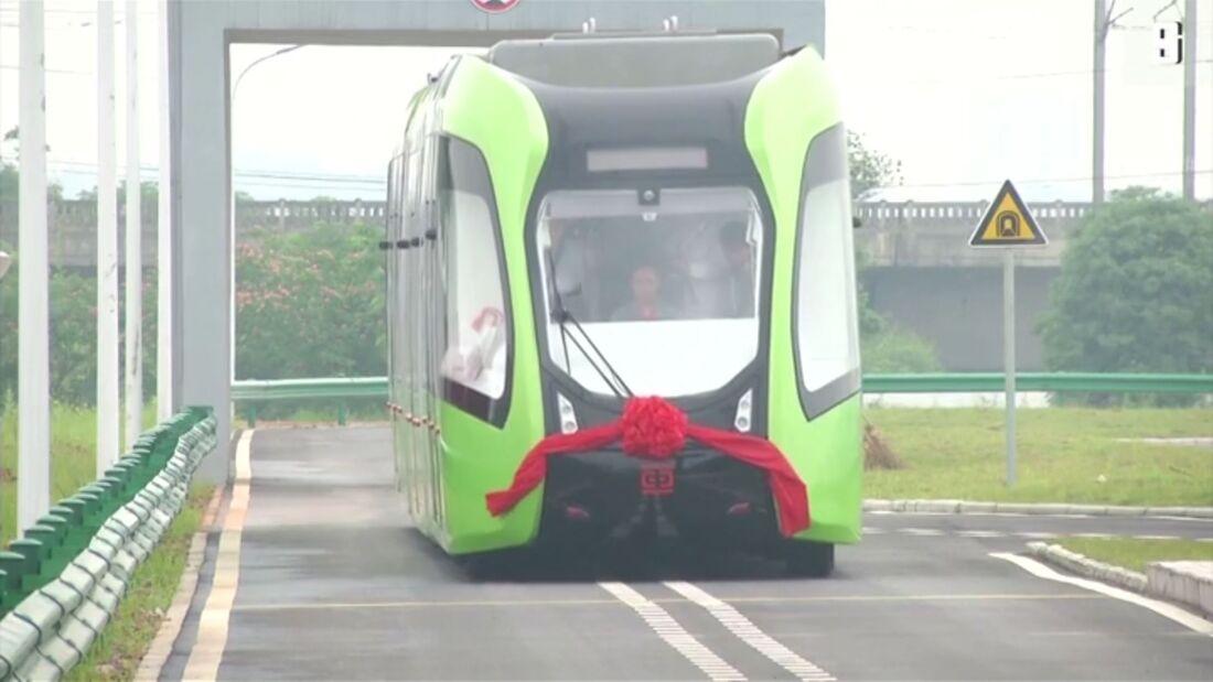 07/2019, Schienenlose Straßenbahn CRRC Zhuzhou ART