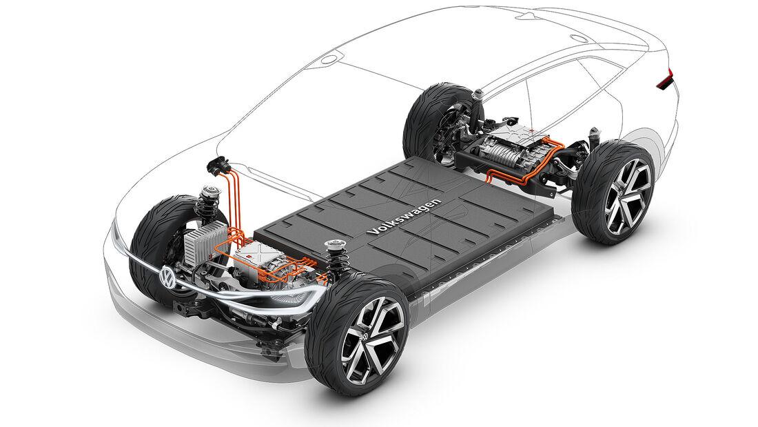 07/2019, VW ID. Crozz auf MEB schematische Darstellung