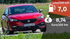 07/2020, Kosten und Realverbrauch Seat Leon 1.5 e-TSI FR