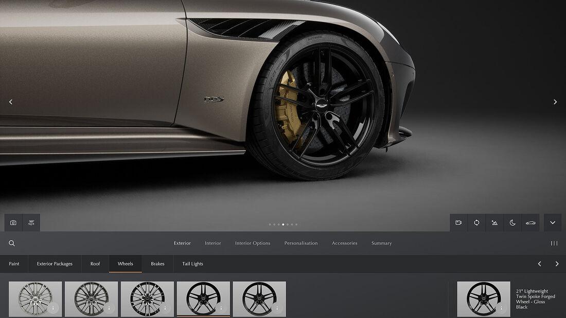 07/2021, Aston Martin neuer Online Konfigurator