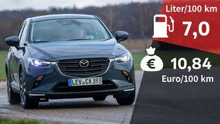 07/2021, Kosten und Realverbrauch Mazda CX-3 Skyactiv-G 2.0 Selection