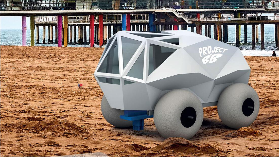07/2021, Project .BB Beach Bot autonomes Müllsammelauto für den Strand