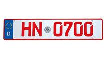 07-Kennzeichen, Rote Nummer