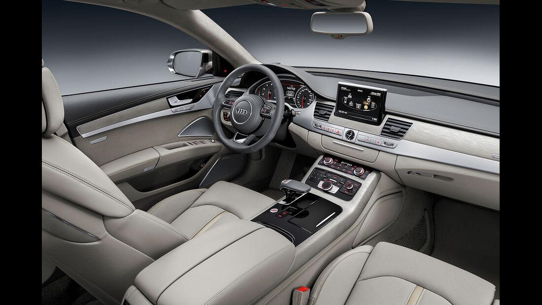 08/2013 Audi A8 facelift Sperrfrist 21.8.2013 W12