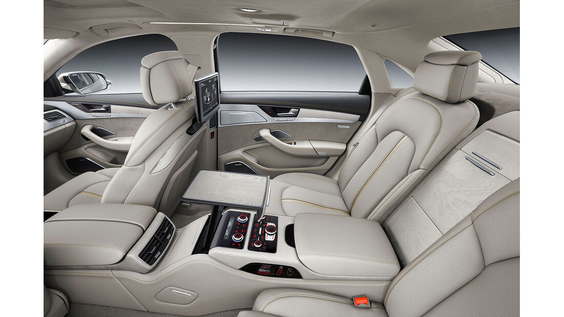 08/2013 Audi A8 facelift Sperrfrist 21.8.2013 W12 Innenraum