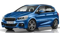 08/2014, BMW 2er Active Tourer ohne Kühlerniere
