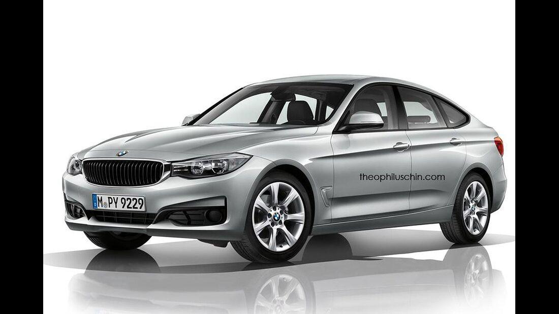 08/2014, BMW 3er GT ohne Kühlerniere