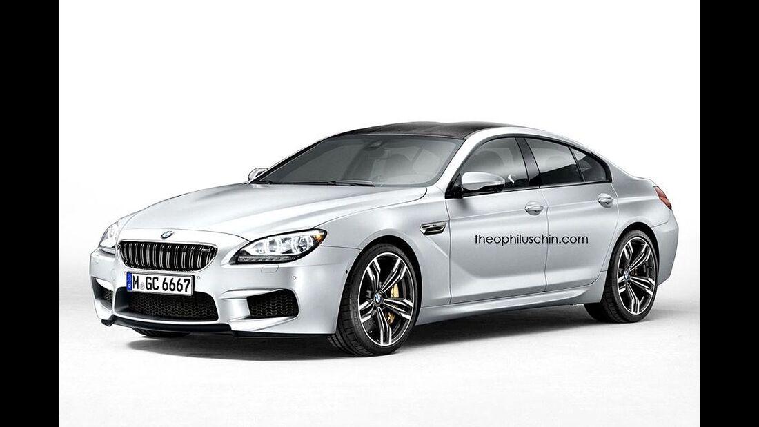 08/2014, BMW M6 Gran-Coupe ohne Kühlerniere