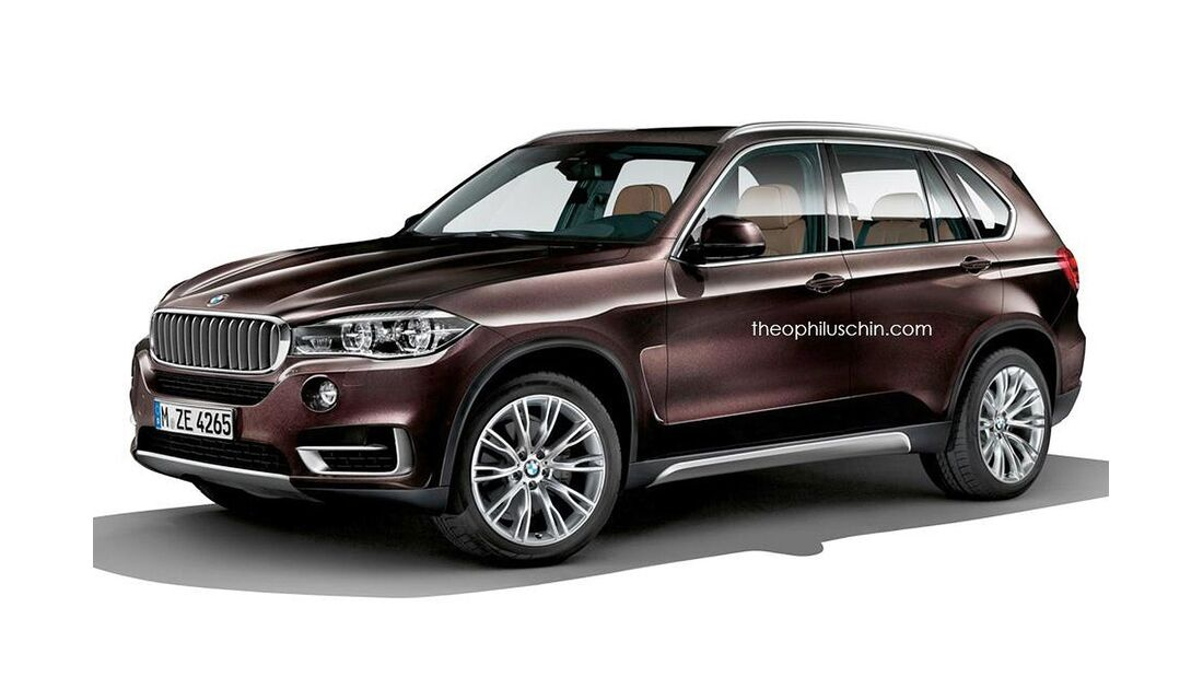 08/2014, BMW X5 ohne Kühlerniere